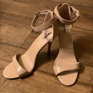 Mossimo Nude Ankle Strap Heel